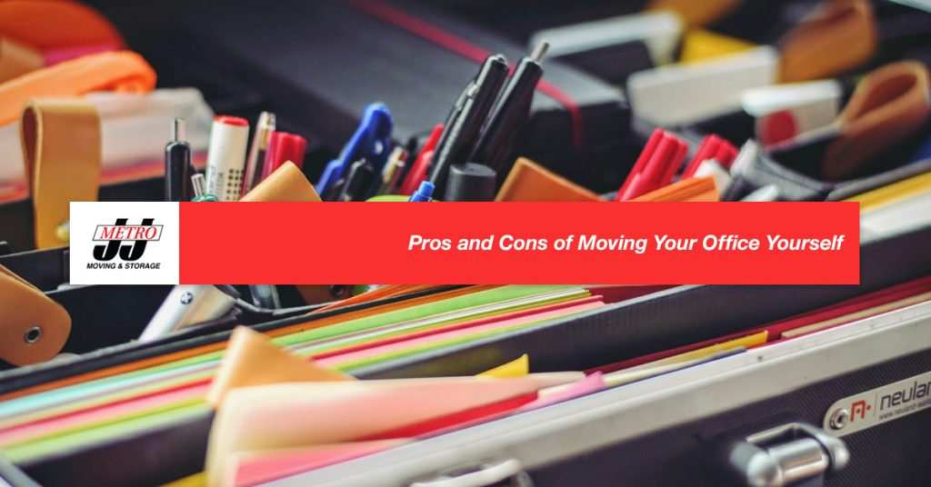 Pros and Cons of Moving Your Office Yourself