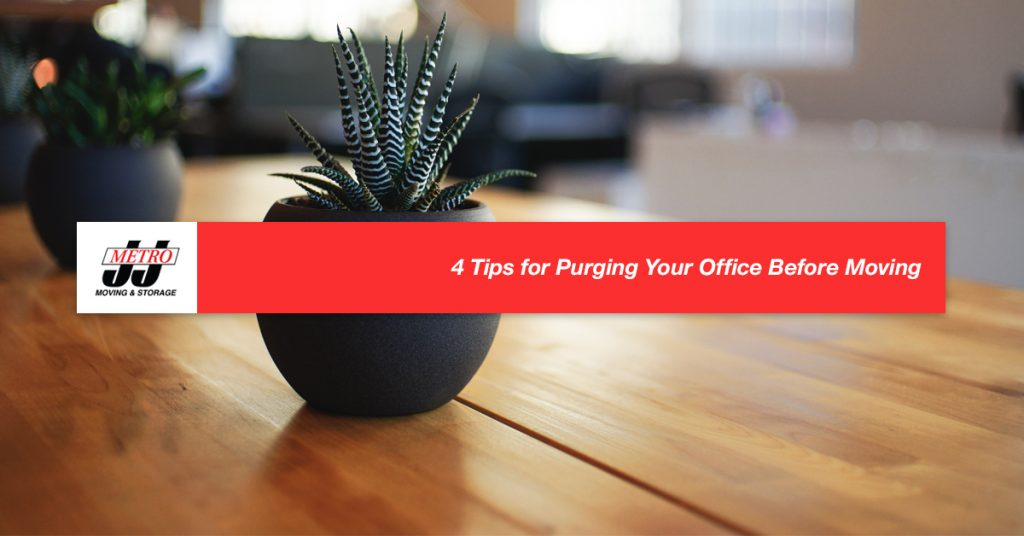 4 Tips for Purging Your Office Before Moving